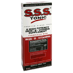 MON88312700 - McKessonIron with Vitamin B Supplement S.S.S. Tonic 100 mg / 20 mg Strength Liquid 10 oz.