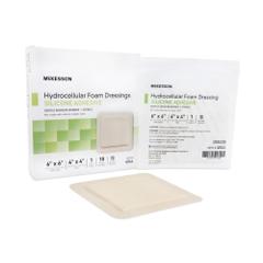 MON48442110 - McKesson - 4 x 4 Silicone Sterile Square Adhesive Foam Dressing, 200/CS