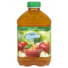 MON797169CS - Hormel Health Labs - Thick & Easy® Clear Thickened Beverage, Apple Juice, 46 oz., Ready to Use, Nectar