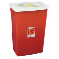 MON88992800 - MedtronicSharpSafety™ Sharps Container, PGII, Gasketed Hinged Lid, Red, 18 Gallon