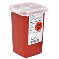 MON89002810 - MedtronicSharpSafety™ Sharps Container, Phlebotomy, Red, 1 Quart