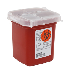 MON89012800 - MedtronicSharpSafety™ Sharps Container Phlebotomy, Red 1 Pint