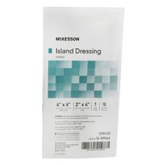 MON488923EA - McKesson - Adhesive Island Dressing 4 x 6 Polypropylene / Rayon Rectangle 2 x 4 Pad White Sterile