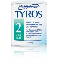 MON89182601 - Mead Johnson NutritionMedical Food Powder Tyros 2 Unflavored 1 lb.