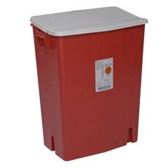 MON89302800 - MedtronicSharpSafety™ Sharps Container Gasketed Hinged Lid, Red 30 Gallon