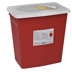 MON89312801 - MedtronicSharpSafety™ Chemotherapy Container, PGII,Hinged Lid, Yellow, 12 Gallon