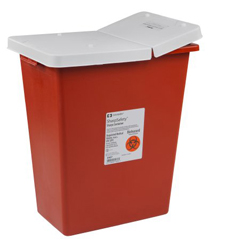 MON89322800 - MedtronicSharpSafety™ Sharps Container Gasketed Hinged Lid, Red 12 Gallon