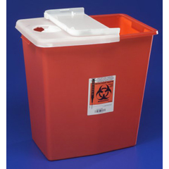 MON89332800 - MedtronicSharpSafety™ Sharps Container Hinged Lid, Red 12 Gallon
