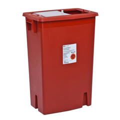 MON89352800 - MedtronicSharpSafety™ Sharps Container Slide Lid, Red 12 Gallon