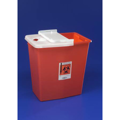MON89362800 - MedtronicSharpSafety™ Sharps Container Gasketed Slide Lid, Red 12 Gallon
