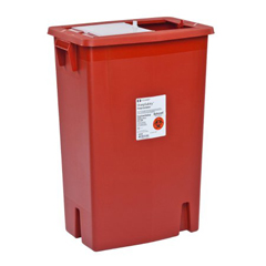 MON89382800 - MedtronicSharpSafety™ Sharps Container Slide Lid, Red 18 Gallon