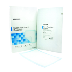 MON89562100 - McKesson - Xtrasorb Super Absorbent 6in x 9in Sterile Dressing