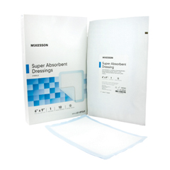 MON89562101 - McKesson - Absorbent Dressing Polyethylene, NonWoven Polypropylene, Cellulose and Superabsorber 6 X 9