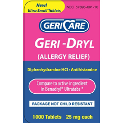 MON89602700 - McKessonAllergy Relief 25 mg, 1000 per Bottle
