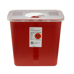 MON89702820 - MedtronicSharpSafety™ Sharps Container, Rotor Lid, Red, 2 Gallon