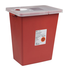 MON89802800 - MedtronicSharpSafety™ Sharps Container Hinged Lid, Red 8 Gallon