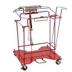 MON89803400 - MedtronicSharpsCart Sharps Collector Cart Foot Operated Cart Metal