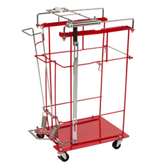 MON89813401 - Cardinal Health - Sharps Cart SharpsCart Metal 16 x 21-1/2 x 22 1 Shelf Red