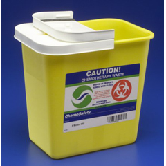 MON89822800 - MedtronicSharpSafety™ Chemotherapy Container Hinged Lid, Yellow 2 Gallon