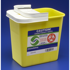 MON89822820 - MedtronicSharpSafety™ Chemotherapy Container Hinged Lid, Yellow 2 Gallon