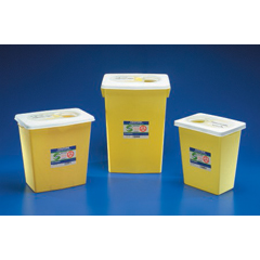 MON89852800 - MedtronicSharpSafety™ Chemotherapy Container, Slide Lid, Yellow, 8 Gallon