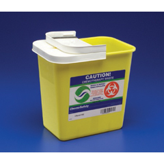 MON89892801 - MedtronicSharpSafety™ Chemotherapy Container, PGII, Hinged Lid, Yellow, 18 Gallon