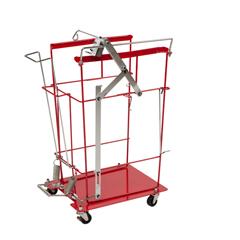 MON89913400 - Cardinal Health - Sharps Cart SharpsCart Metal 15-1/4 x 22-3/4 x 31 1 Shelf Red
