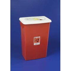 MON89982800 - MedtronicSharpSafety™ Sharps Container Gasketed Slide Lid, Red 18 Gallon