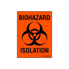 MON90001100 - Shamrock - Shamrock Scientific Biohazard Warning Label (SBH-9), 100 EA/PK