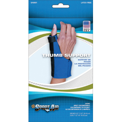 MON90013000 - Scott SpecialtiesThumb Support Neoprene Left or Right Hand Blue Small / Medium