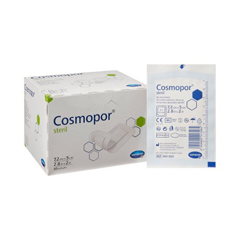MON90082010 - Hartmann - Adhesive Dressing Cosmopore Advance 2 x 2.8 100% Cotton White Sterile