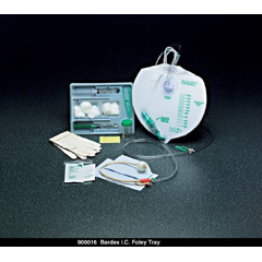 MON90161900 - Bard MedicalIndwelling Catheter Tray Bardex I.C. Foley 16 Fr. 5 cc Balloon Hydrogel Coated Latex