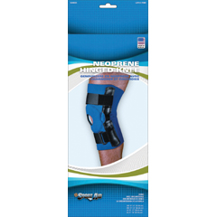 MON90333000 - Scott SpecialtiesHinged Knee Support Sport-Aid® Medium Hook and Loop Closure 14 to 15 Inch Circumference Left or Right Knee