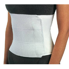 MON90793000 - DJOAbdominal Support PROCARE® Universal Hook and Loop Closure 30 to 45 Inch 12 Inch Unisex