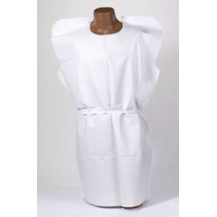 MON91031100 - Tidi ProductsExam Gown Tidi White Adult Without Cuff Disposable
