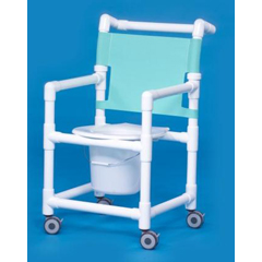 MON91113500 - Innovative ProductsShower Commode Chair With Arms PVC Mesh Backrest