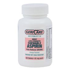MON91132700 - McKessonAspirin Chewable Tablets 81 mg, 36EA per Bottle