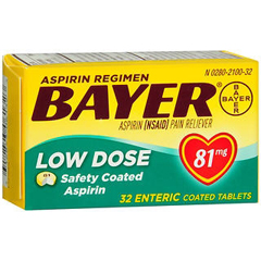 MON91672700 - BayerPain Relief Bayer 81 mg Strength Tablet 32 per Bottle
