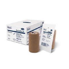 MON93162108 - Hartmann2 Layer Compression Bandage System TwoPress® 2 Standard Compression Self-adherent Closure Tan / White