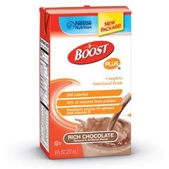 MON93232600 - Nestle Healthcare NutritionBoost Plus Chocolate Tetra Brik 8Fl Oz Ct