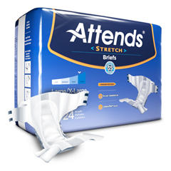 MON94281396 - AttendsIncontinent Brief Attends Tab Closure Large / X-Large Disposable Moderate Absorbency (DDSLXL)