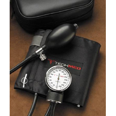 MON94602500 - Tech-Med ServicesAneroid Sphygmomanometer 2-Tube Large Adult