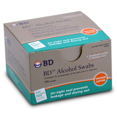 MON95682710 - BDAlcohol Swabs BD® 70% Alcohol NonSterile, 100EA/BX 12BX/CS
