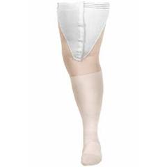 MON209606PR - Carolon Company - Anti-embolism Stockings CAP Thigh-high Medium, Short White Inspection Toe