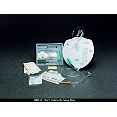 MON96181900 - Bard MedicalIndwelling Catheter Tray Lubricath Foley 18 Fr. 5 cc Balloon Latex