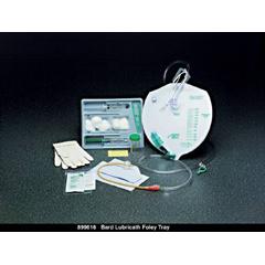 MON96181910 - Bard MedicalIndwelling Catheter Tray Lubricath Foley 18 Fr. 5 cc Balloon Latex