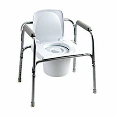 MON96503300 - InvacareCommode Chair Fixed-Arm Steel Steel Back Bar 16 to 22 Inch, 4EA/CS