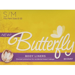 MON96843101 - AttendsButterfly® Female Incontinence Body Liners, S/M, 28 EA/BX