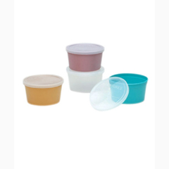 MON97511700 - Medical Action IndustriesDenture Cup Medegen 8 oz. Translucent Snap On Lid Single Patient Use, 25EA/PK