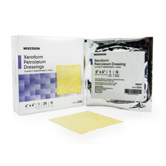 MON98292106 - McKesson - Xeroform Petrolatum Dressing 4 X 4 Gauze Bismuth Tribromophenate Sterile, 25EA/BX, 6BX/CS
